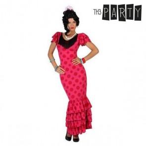 Costume per Adulti Ballerina di flamenco Rosa