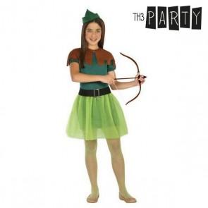 Costume per Bambini Arciere donna (4 Pcs)