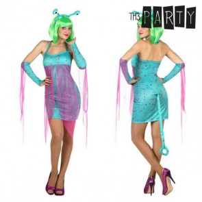 Costume per Adulti Alien sexy Azzurro (4 Pcs)