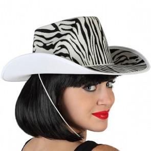 Cappello da Cowboy Zebră Bianco Nero 115204