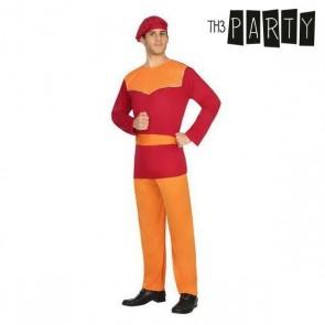 Costume per Adulti Paggio Rosso (4 Pcs)