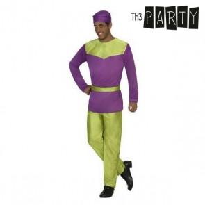 Costume per Adulti Paggio Viola (4 Pcs)