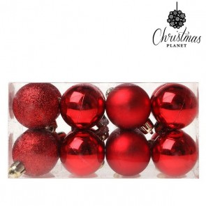 Palle di Natale Christmas Planet 5313 4 cm (16 uds) Plastica Rosso