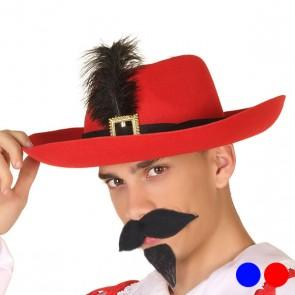 Cappello Moschettiere Piuma 110613