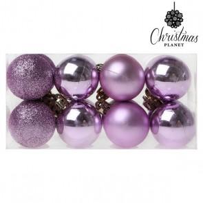 Palle di Natale Christmas Planet 6721 4 cm (16 uds) Viola