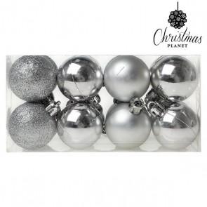 Palle di Natale Christmas Planet 6868 4 cm (16 uds) Argentato