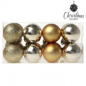 Palle di Natale Christmas Planet 6967 4 cm (16 uds) Dorato
