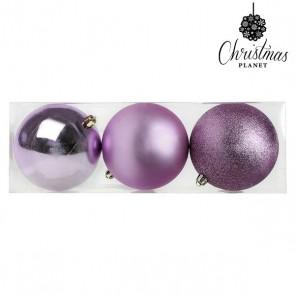 Palle di Natale Christmas Planet 7339 10 cm (3 uds) Porpora