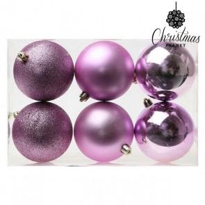 Palle di Natale Christmas Planet 8008 8 cm (6 uds) Viola