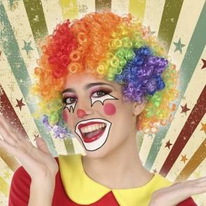 Parrucca Pagliaccio Multicolore