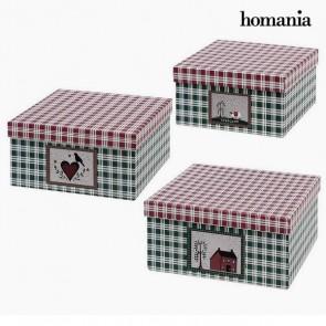Scatola Decorativa Homania 7635 (3 uds) Scatola