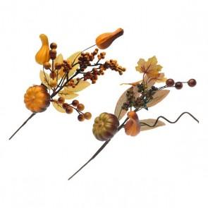 Fiore Decorativo Autum Giallo Marrone 110039