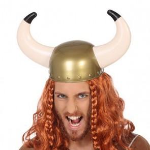 Casco Vikingo Corni Dorato
