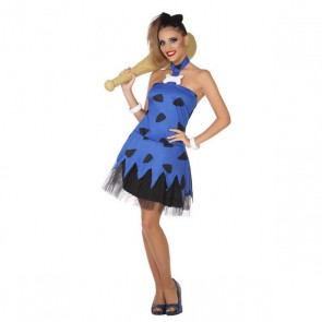 Costume per Adulti Cavernicolo Azzurro (2 Pcs)