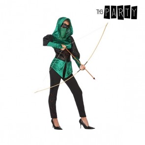 Costume per Adulti Arciere donna Verde (5 Pcs)
