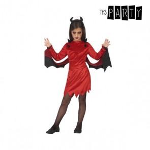 Costume per Bambini Demonio donna Rosso (3 Pcs)