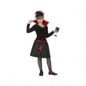 Costume per Bambini Vampiro donna Nero (1 Pc)