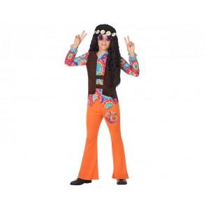 Costume per Bambini Hippie Arancio (2 Pcs)