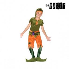 Costume per Bambini Folletto Verde Arancio (6 Pcs)