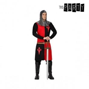 Costume per Adulti Cavaliere delle crociate Nero Rosso (2 Pcs)