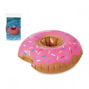 Supporto gonfiabile per lattine Donut Rosa (25 X 23 cm)