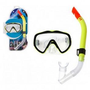 Occhialini da Snorkeling e Boccaglio Adulti Giallo 118769