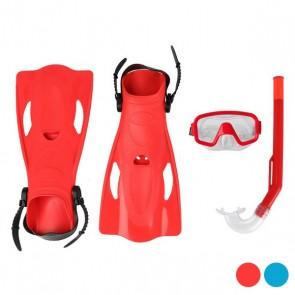 Maschera da Snorkeling con Boccaglio e Pinne Adulti