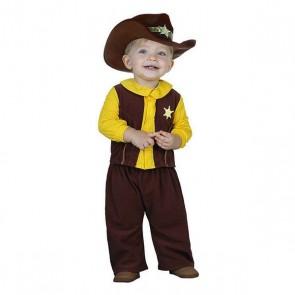 Costume per Neonati Cowboy 113244 Marrone Giallo (2 Pcs)