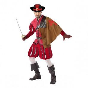 Costume per Adulti 113817 Moschettiere Rosso (3 Pcs)