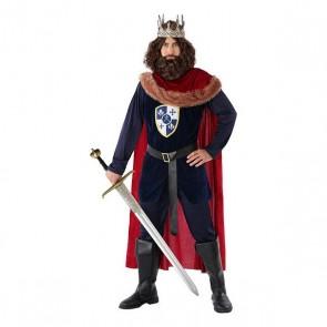 Costume per Adulti 113893 Re medievale Blu marino Rosso
