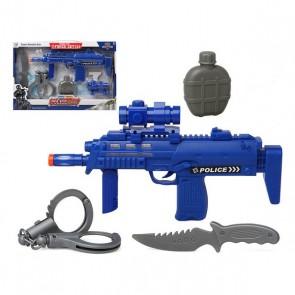 Set di Polizia Azzurro 117280 (4 Pcs)