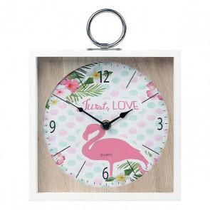 Orologio da Parete Fenicottero Rosa (20 X 5 x 20 cm) 110822
