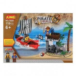 Gioco di Costruzioni con Blocchi Pirate World 119610 (110 pcs)
