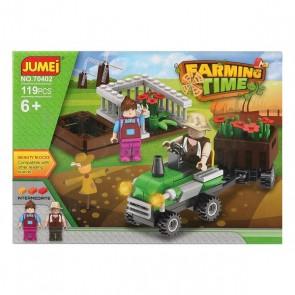 Gioco di Costruzioni con Blocchi Farming Time 119665 (119 pcs)