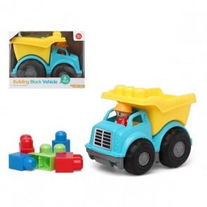 Camion con Blocchi di Costruzioni 114607 Azzurro Giallo (6 Pcs)