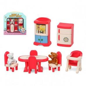 Accessori per Casa delle Bambole Happy Family Dining Room