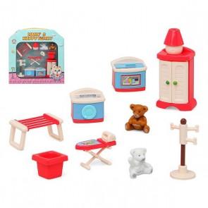 Accessori per Casa delle Bambole Happy Family Laundry Room