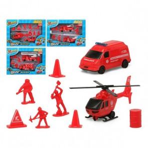Playset di Veicoli Rosso 119350