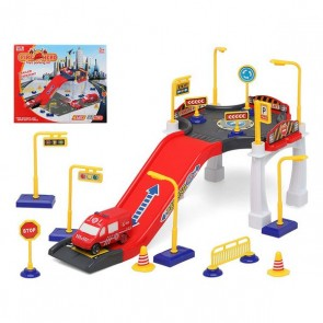 Parcheggio con Veicoli Fire Hero 111353 (37 pcs)
