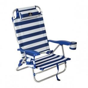 Sedia da spiaggia Azzurro Bianco (85 X 60 x 56 cm)
