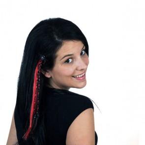 Extension per i Capelli Halloween 111039 Rosso Nero