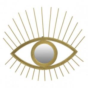 Specchio da parete Dekodonia CHIC GOLD Dorato Geam rattan (47 x 1 x 42 cm)