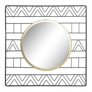 Specchio da parete Dekodonia Metallo Geam (40 x 2 x 40 cm)