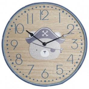Orologio da Parete Dekodonia Orso Pirata (31 x 4 x 31 cm)