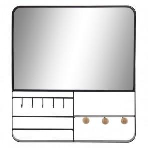 Specchio da parete Dekodonia Nero Metallo (35 x 6 x 40 cm)