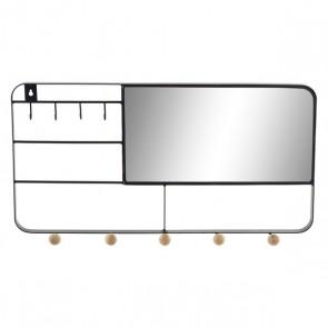 Specchio da parete Dekodonia Nero Metallo (50 x 6 x 25 cm)