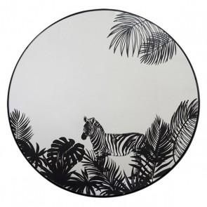 Specchio da parete Dekodonia Nero Metallo (40 x 2 x 40 cm)