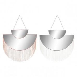 Specchio da parete Dekodonia Poliestere Metallo (2 pcs)