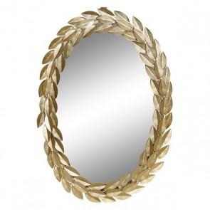 Specchio da parete Dekodonia Dorato Metallo (33 x 2 x 49 cm)