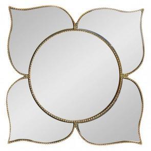 Specchio da parete Dekodonia Dorato Resina Specchio (38 x 38 x 1 cm)